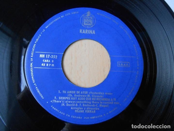 Discos de vinilo: KARINA, EP, CONCIERTO PARA ENAMORADOS + 3, AÑO 1966 - Foto 4 - 287776483