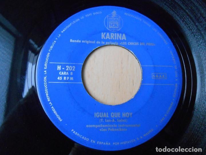 Discos de vinilo: KARINA, SG, LOS CHICOS DEL PREU + 1, AÑO 1967 - Foto 4 - 287777573