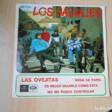 Discos de vinilo: SALVAJES, LOS, EP, LAS OVEJITAS + 3, AÑO 1967. Lote 287778753
