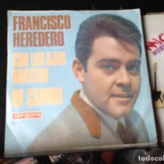 """Discos de vinilo: FRANCISCO HEREDERO - CON LOS OJOS ABIERTOS / SINGLE 7"""" 1967 SPAIN. NM/NM. Lote 287784648"""