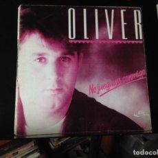 """Discos de vinilo: OLIVER - NO JUEGUES CONMIGO / SINGLE 7"""" 1989 JUSTINE RECORDS SPAIN. NM/NM. Lote 287785883"""