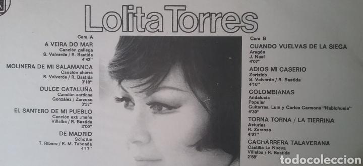 Discos de vinilo: LOLITA TORRES. LP. SELLO HISPAVOX.EDITADO EN URUGUAY - Foto 2 - 287793713