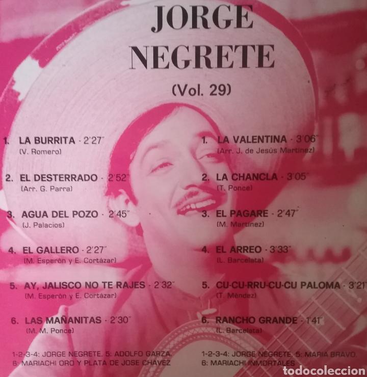 Discos de vinilo: JORGE NEGRETE. LP. SELLO EMI ODEON.EDITADO EN ESPAÑA. AÑO 1971 - Foto 2 - 287794078