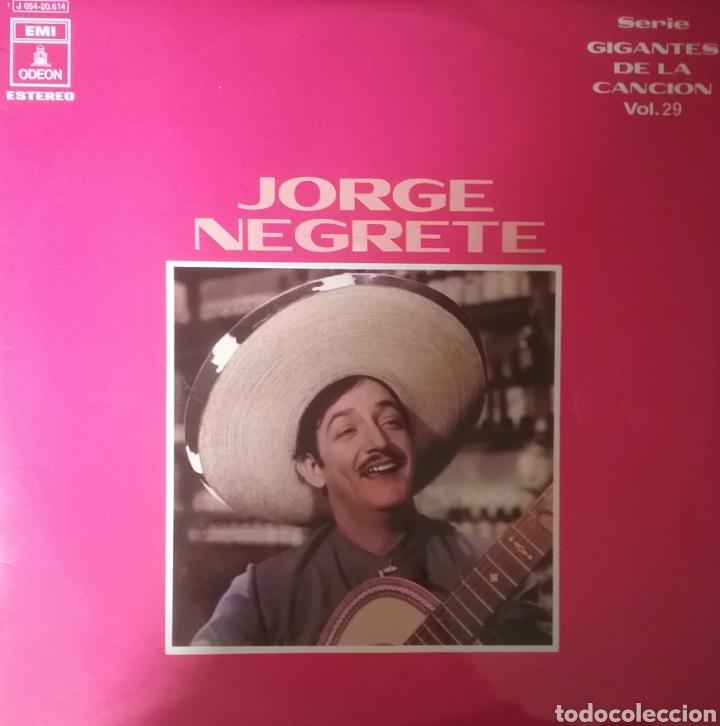 JORGE NEGRETE. LP. SELLO EMI ODEON.EDITADO EN ESPAÑA. AÑO 1971 (Música - Discos - LP Vinilo - Grupos y Solistas de latinoamérica)