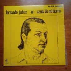 Discos de vinilo: FERNANDO GÁLVEZ – CANTE DE MI TIERRA, BENZO RECORDS – FG-2005, 1974. SPAIN.. Lote 287786583