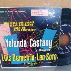 Discos de vinilo: YOLANDA CASTANY-EP ME TIENES QUE QUERER +3. Lote 287800388