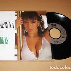 Discos de vinil: SABRINA - BOYS, BOYS, BOYS - SINGLE - 1987. Lote 287802118