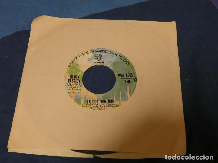 BOXX129 SINGLE 7 PULGADAS USA ACEPTABLE SHAUN CASSIDY DA DOO RON RON (Música - Discos - LP Vinilo - Pop - Rock - Internacional de los 70)