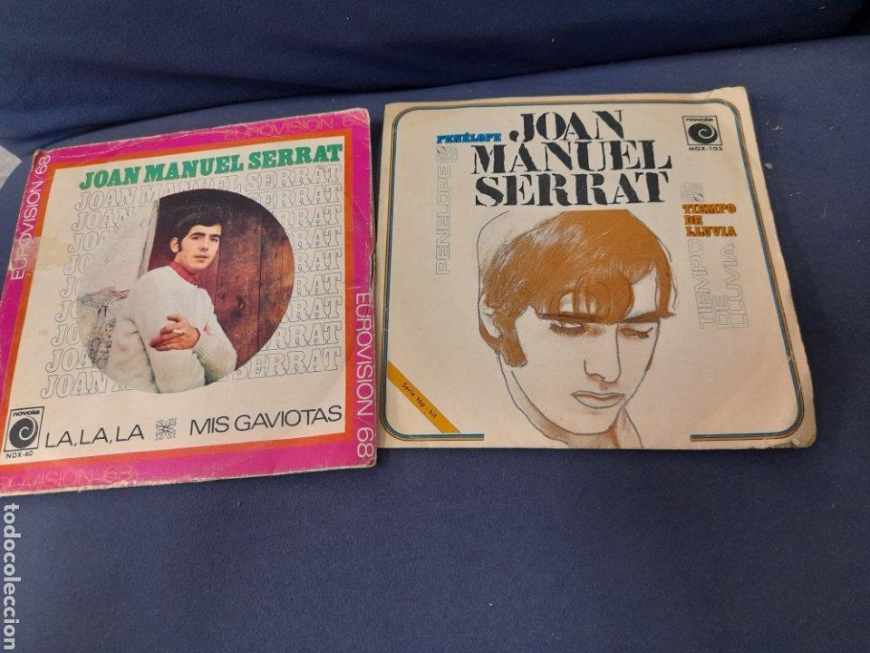 2 ANTIGUOS VINILOS DE SERRAT (Música - Discos - Singles Vinilo - Cantautores Españoles)