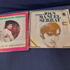Discos de vinilo: 2 ANTIGUOS VINILOS DE SERRAT. Lote 287817588