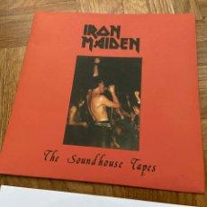 Discos de vinilo: IRON MAIDEN THE SOUNDHOUSE TAPES EP DISCO DE VINILO SINGLE COLOR AZUL. Lote 287820918