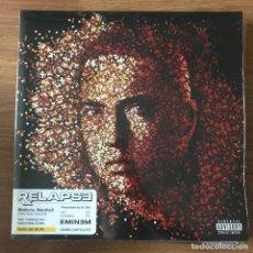 Discos de vinilo: EMINEM - RELAPSE (2009) - LP DOBLE REEDICIÓN SHADY NUEVO. Lote 287820983