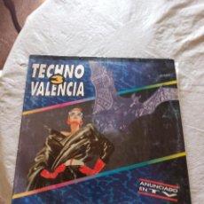 Discos de vinilo: TECHNO VALENCIA VOL.3 2LP 1993 GATEFOLD ESPAÑA RECOPILATORIO SEVENEBB / METRO. Lote 287828428