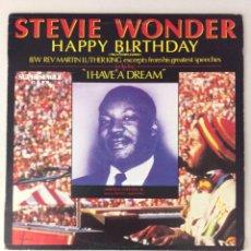 Discos de vinilo: STEVE WONDER. HAPPY BIRTHDAY. I HAVE A DREAM. Lote 287833718