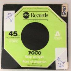 Discos de vinilo: ABC RECORDS. POCO. KEEP ON TRYIN'. ROSE OF CIMARRÓN. INDIAN SUMMER. Lote 287836008