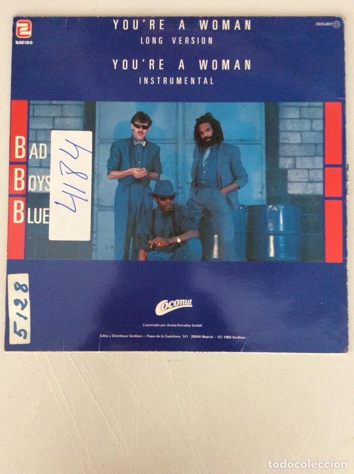 Discos de vinilo: Bad Boys Blue. You're a woman. Long version - Foto 2 - 287839268
