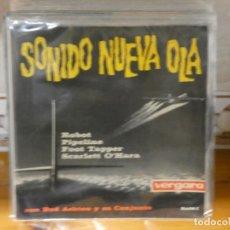 Discos de vinilo: CAJSING19 DISCO 7 PULGADAS BUEN ESTADO GENERAL EP BUD ASHTON SONIDO NUEVA OLA PORTADON. Lote 287839873