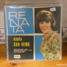 Discos de vinilo: CAJSING19 DISCO 7 PULGADAS BUEN ESTADO GENERAL EP RENATA CANTA SAN REMO MUY BONITO. Lote 287840728