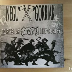Discos de vinilo: NEGU GORRIAK – ITXURAKERIARI STOP HYPOCRISY. Lote 287841118
