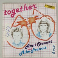 Discos de vinilo: TOGETHER. AMII STEWART AND MIKE FRANCIS. Lote 287841168