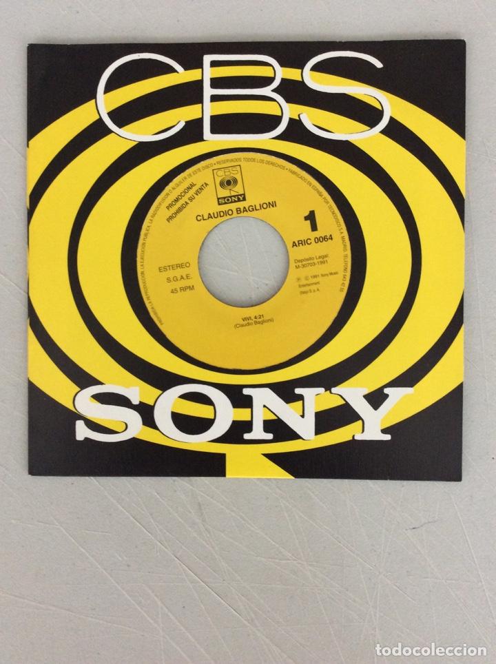 CLAUDIO BAGLIONI. VIVÍ. CBS SONY. (Música - Discos de Vinilo - Maxi Singles - Otros estilos)