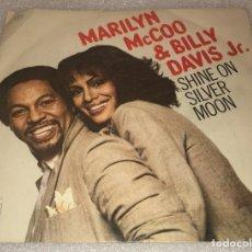 Discos de vinilo: SINGLE MARILYN MCCOO AND BILLY DAVIS JR - SHINE ON SILVER MOON Y OTRO TEMA - CBS - PEDIDO MINIMO 7€. Lote 287849363