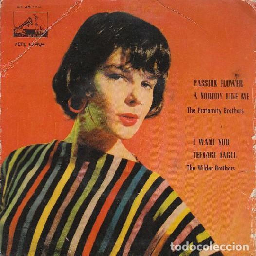 THE FRATERNITY BROTHERS / THE WILDER BROTHERS - PASSION FLOWER - LA VOZ DE SU AMO 7EPL 13.404 -1960 (Música - Discos de Vinilo - EPs - Rock & Roll)