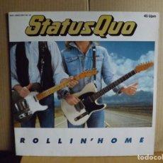 Discos de vinilo: STATUS QUO ---- ROLLIN ´HOME - MAXI SINGLE. Lote 287861688