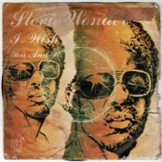 Discos de vinilo: STEVIE WONDER - I WISH / YOU AND I. SINGLE. Lote 287865303