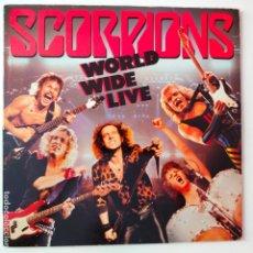 Discos de vinilo: SCORPIONS- WORLD WIDE LIVE- SPAIN LP 1991 + 2 ENCARTES- VINILOS EXC. ESTADO.. Lote 287870203