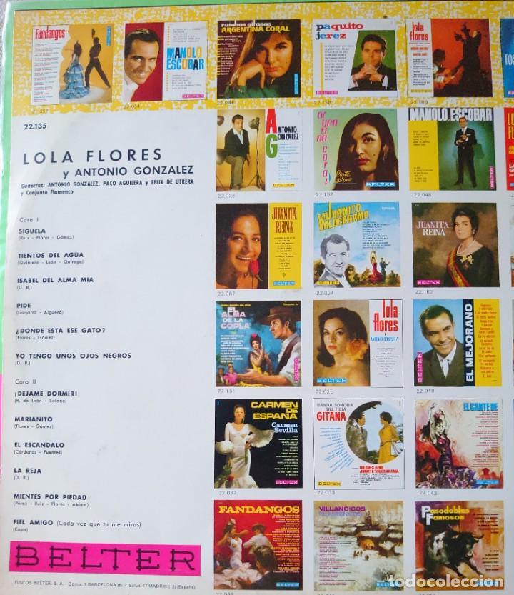 Discos de vinilo: Lola Flores Lp sello Belter editado en España año 1967...original de epoca - Foto 2 - 287883973