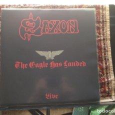 Discos de vinilo: SAXON - THE EAGLE HAS LANDED (HEAVY METAL) RARE LP 1982/ FRANCE M-NM. Lote 287884098