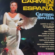 Discos de vinilo: CARMEN SEVILLA LP SELLO BELTER EDITADO EN ESPAÑA AÑO 1967.... Lote 287884563