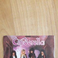 Discos de vinilo: CINDERELLA. NOBODY'S FOOL. Lote 287888133