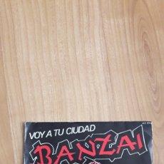 Discos de vinilo: BANZAI. VOY A TU CIUDAD. Lote 287890588
