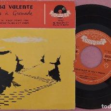 """Discos de vinilo: 7"""" CATERINA VALENTE - DE PARIS A GRENADE - POLYDOR 20 547 - FRANCE PRESS (VG+/VG++). Lote 287907643"""