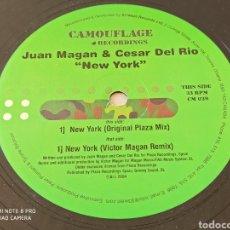 """Discos de vinilo: JUAN MAGAN & CESAR DEL RIO - NEW YORK (12""""). Lote 287908568"""