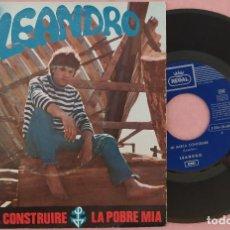 """Discos de vinilo: 7"""" LEANDRO - MI BARCA CONSTRUIRE - REGAL 1 J 006-20.608 - SPAIN PRESS (VG+/VG++). Lote 287908878"""