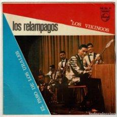 Discos de vinilo: LOS RELÁMPAGOS - LOS VIKINGOS / EL PASO DE LOS URALES. SINGLE. Lote 287909408