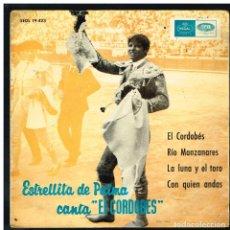 Discos de vinilo: ESTRELLITA DE PALMA - CANTA EL CORDOBES / RIO MANZANARES, +2 - EP 1965 - SOLO LA FUNDA, SIN VINILO. Lote 287909603