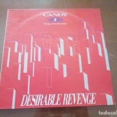 Discos de vinilo: DISCO DE MÚSICA LP VINILO MAXI SINGLE CANDY J THE SAGA OF SWEET PUSSY PAULINE DESIRABLE REVENGE. Lote 287910088