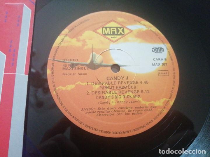 Discos de vinilo: Disco de música LP vinilo maxi single CANDY J THE SAGA OF SWEET PUSSY PAULINE DESIRABLE REVENGE - Foto 3 - 287910088