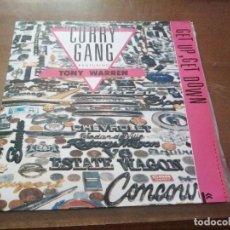 Discos de vinilo: DISCO DE MÚSICA LP VINILO MAXI SINGLE CURRY GANG FEATURING TONY WARREN GET DOWN. Lote 287911428