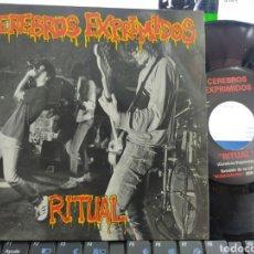 Discos de vinilo: CEREBROS EXPRIMIDOS EP RITUAL MUNSTER RECORDS 1991 EN PERFECTO ESTADO. Lote 287914228