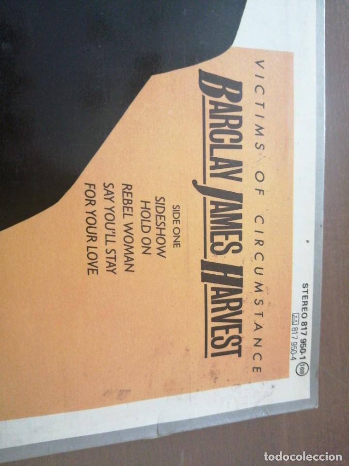 Discos de vinilo: Disco de música LP vinilo maxi single VITIMS OF CIRCUMSTANCE BARCLAY JAMES HARVEST - Foto 3 - 287914463