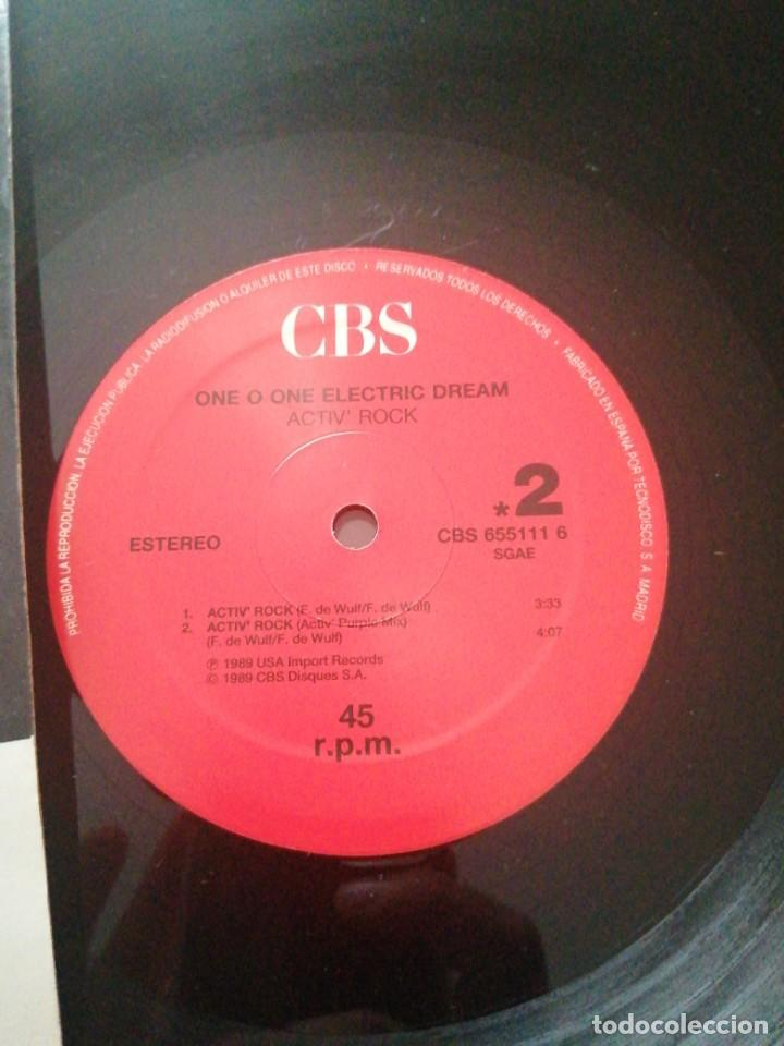 Discos de vinilo: Disco de música LP vinilo maxi single ONE O ONE ELECTRIC DREAM ACTIV ROCK Power Purple mix - Foto 2 - 287918968