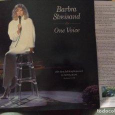 Discos de vinilo: BARBRA STREISAND.ONE VOICE. LIVE IN CONCERT. LP CON ENCARTE ORIGINAL. Lote 287922223