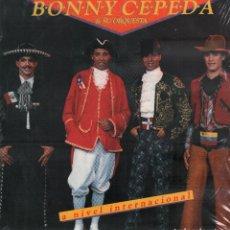 Discos de vinilo: BONNY CEPEDA Y SU ORQUESTA / A NIVEL INTERNACIONAL / LP COMBO 1988 / BUEN ESTADO RF-10300. Lote 287922548