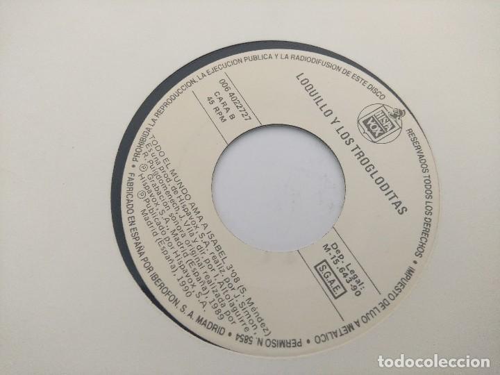 Discos de vinilo: SINGLE/LOQUILLO Y LOS TROGLODITAS/TODO EL MUNDO AMA A ISABEL/PROMOCIONAL. - Foto 3 - 287924113