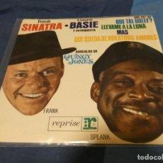 Discos de vinilo: CAJSING19 DISCO 7 PULGADAS EP FRANK SINATRA Y COUNT BASIE QUE QUEDA DE NUESTROS AMORES. Lote 287925193